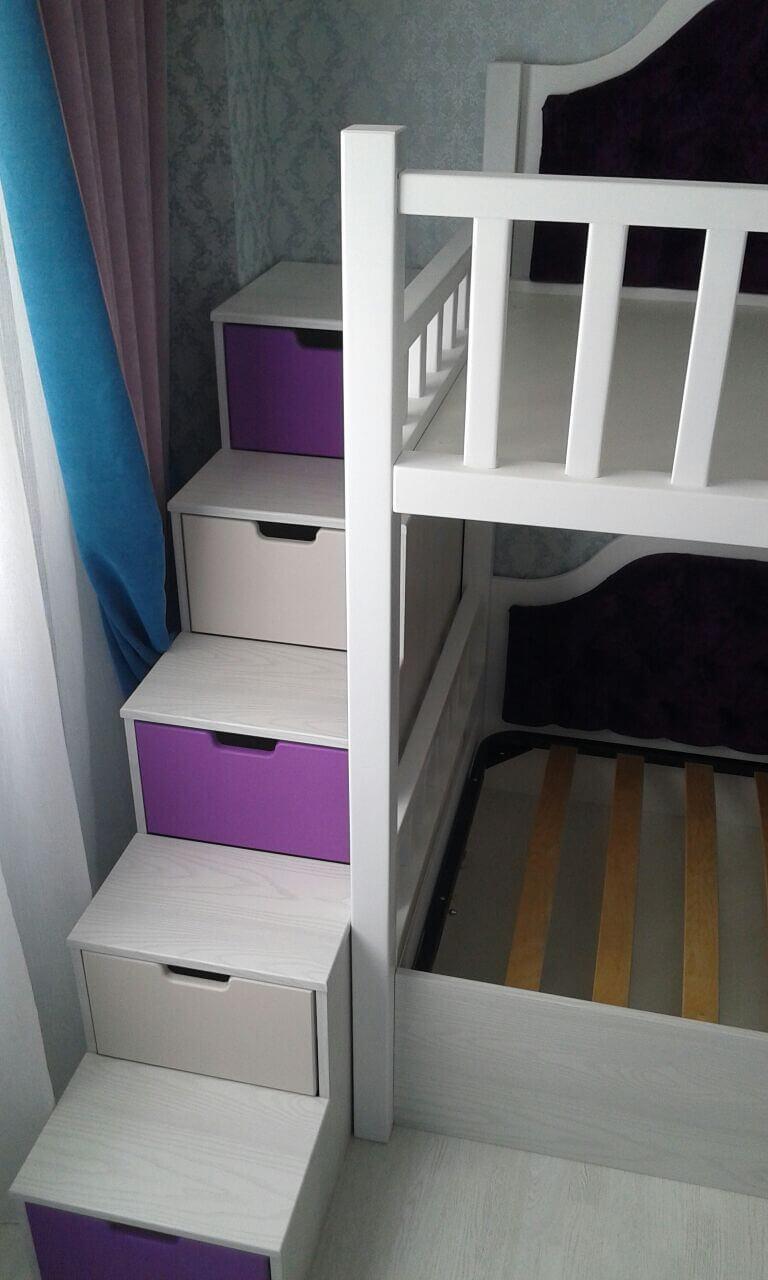 кровать чердак с рабочей зоной на заказ