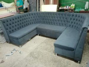 диван для кафе п-образный